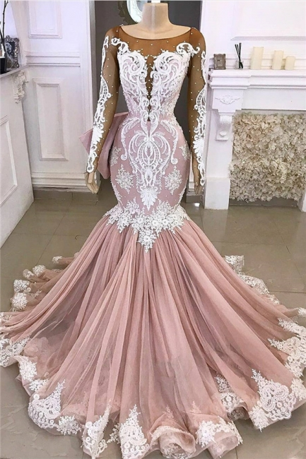 Elegant Evening Dresses Long With Sleeves | Evening wear with lace