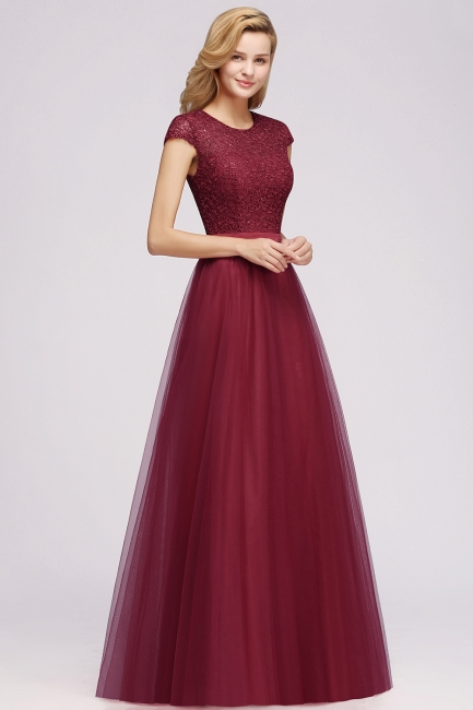 Designer evening dresses wine red | Prom dresses with lace