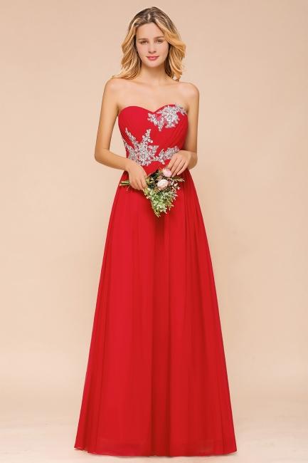 Schöne Brautjungfernkleider Rot   Brautjungfernkleider Lang Günstig