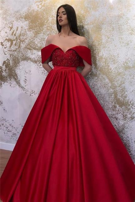 Designer Evening Dresses Long Red | Evening wear prom dresses