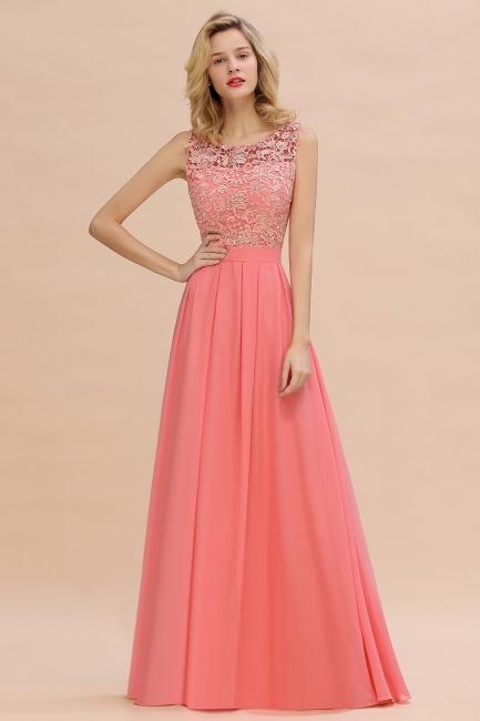 Schlichte Abendkleider Günstig   Coral Brautjungfernkleider Lang