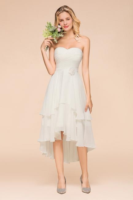 Brautjungfernkleider Kurz Weiß   Kurzes Brautjungfernkleid