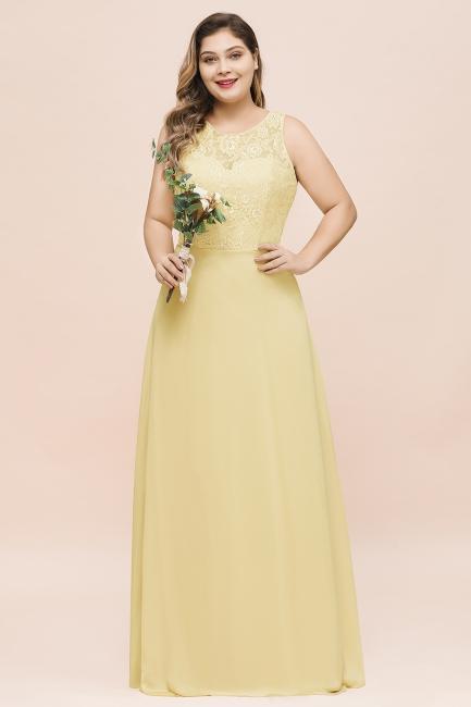 Gelb Brautjungfernkleider Günstig | Brautjungfernkleid Lang Chiffon