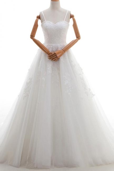 Elegante Hochzeitskleider A linie | Brautkleid Cream