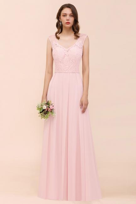 Rosa Brautjungfernkleider Lang | Schlichtes Abendkleid Online