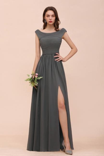 Brautjungfernkleider Lang Dunkel Grau | Kleider Für Bautjungfern