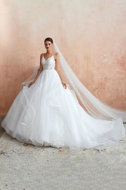Brautkleid A Linie Spitze Rückenfrei | Schöne Hochzeitskleider