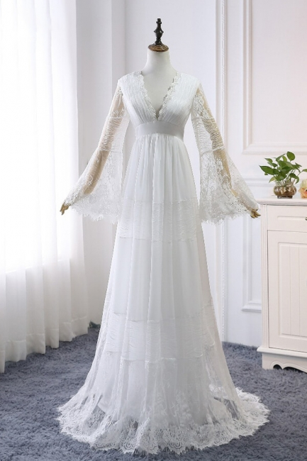 Gorgeous wedding dresses with sleeves | Simple wedding dresses online
