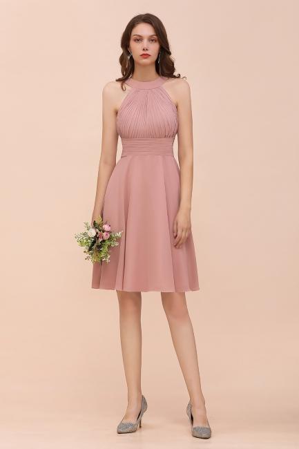 Dusty Pink Bridesmaid Dresses Short   Cheap bridesmaid dress