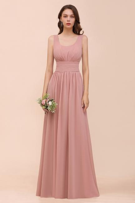 Schöne Brautjungfernkleider Lang Altrosa | Kleider für Brautjungfern