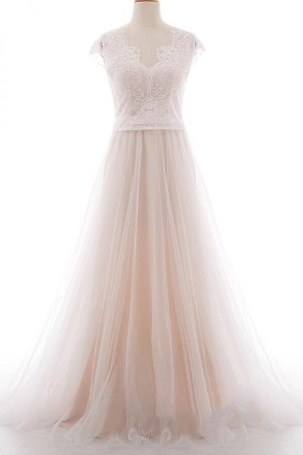Elegante Brautkleider A linie | Hochzeitskleider Spitze Bodenlang