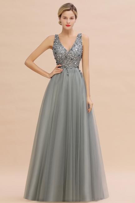 Evening dresses long V neckline | Evening wear online