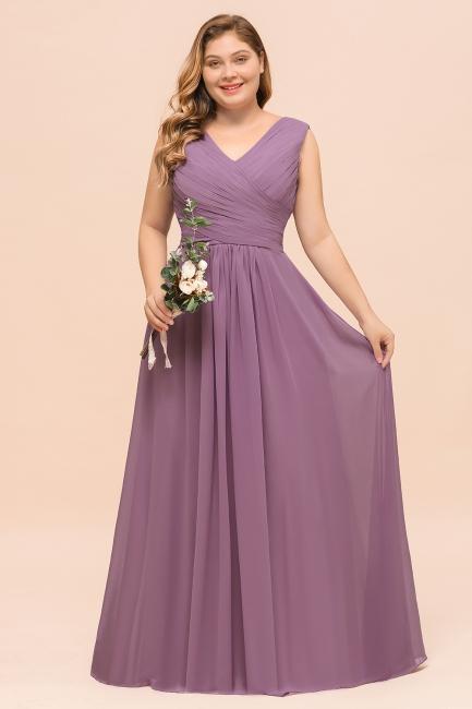 Flieder Brautjungfernkleider Große Größe | Kleider Für Brautjungfern