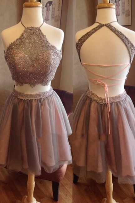 2 dividers short prom dresses cocktail dresses organza a line evening wear