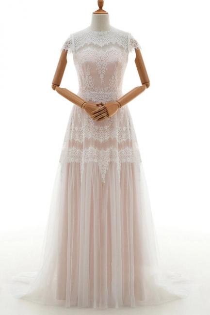 Sheath dresses wedding dresses lace | Floor length wedding dresses
