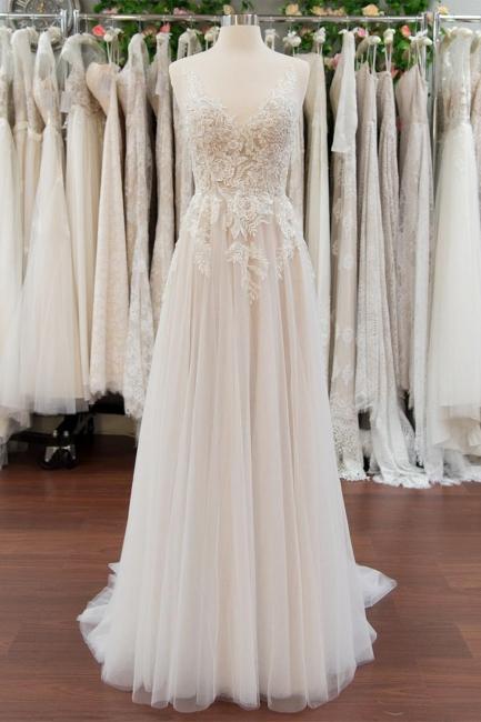 Wunderschöne Brautkleider Mit Spitze | Hochzeitskleid A Linie Online