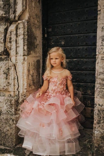 Flower girl dress dusty pink | Wedding flower girl dress