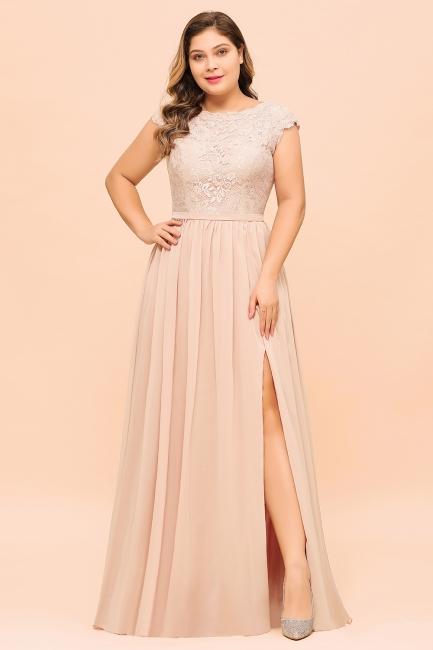 Champagne Übergroße Brautjungfernkleider | Brautjungfernkleid Große Größe
