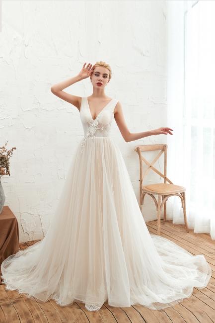 Elegante Hochzeitskleid A linie | Brautkleider Chiffon Günstig Online