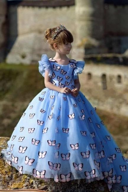 Blumenmädchen Kleid Blau | Blumenmädchen Kleider Kinder
