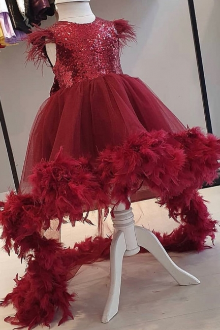 Blumenmädchen Kleider Rot | Blumenmädchenkleider Günstig Online