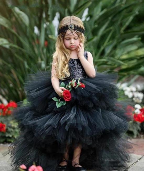 Beautiful Black Flower Girl Dresses | Flower girl dress long