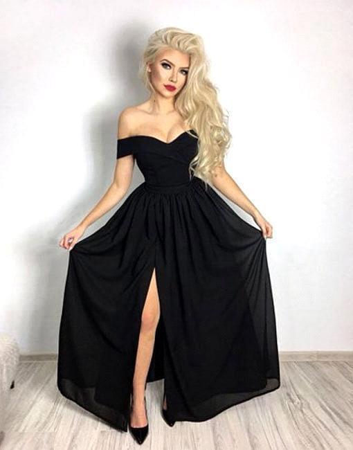 Elegant black evening dresses, buy cheap prom dresses online