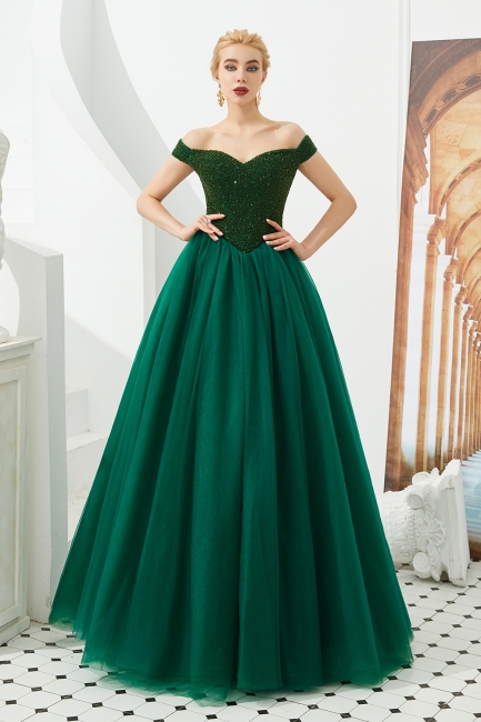 Evening dress long green | Prom Dresses Cheap Online