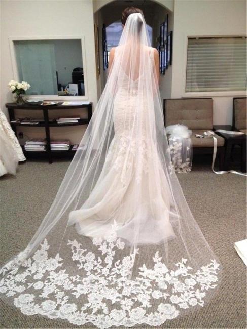 Wedding hairstyle with veil | Bridal veil long