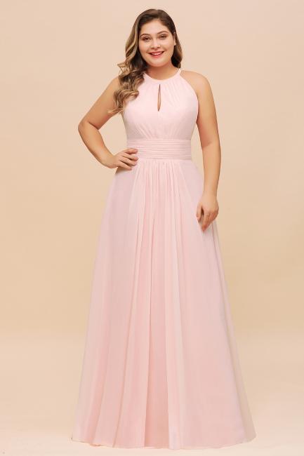 Rosa Brautjungfernkleider Große Größe   Übergroße Brautjungfernkleid