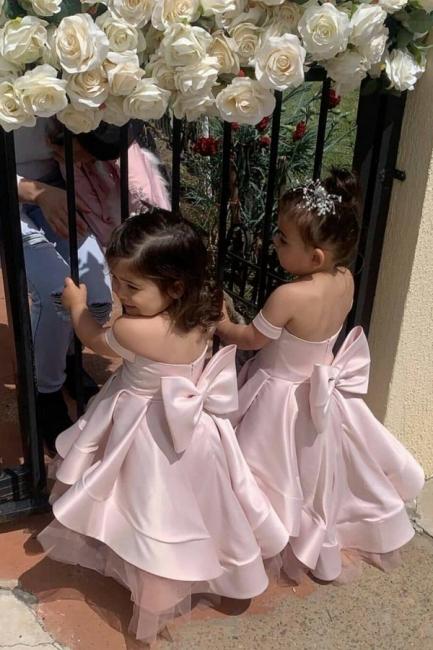 Günstige Blumenmädchenkleider Rosa | Blumenmädchen Kleider Hochzeit