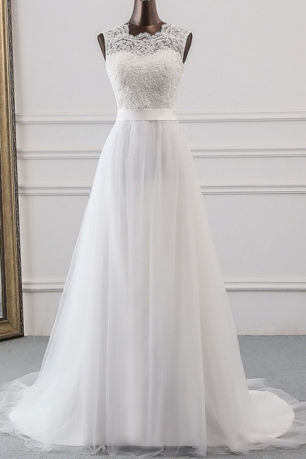 Designer wedding dress A line | Bridal wear with lace