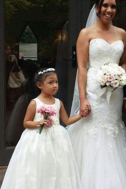 White flower girl lace dress | Flower girl dresses tulle online