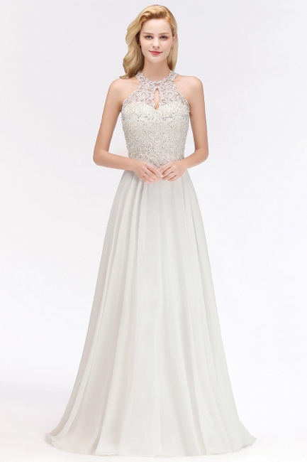 Evening dress long white | Prom Dresses Cheap Online