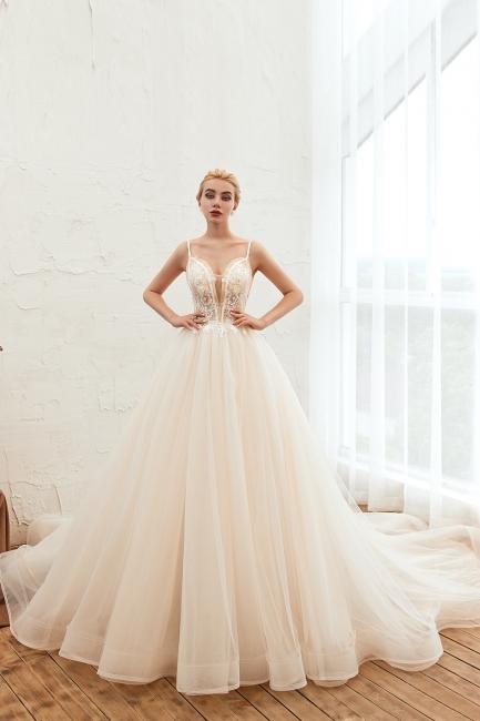 Elegante Brautkleider A linie | Hochzeitskleider mit Spitze Online