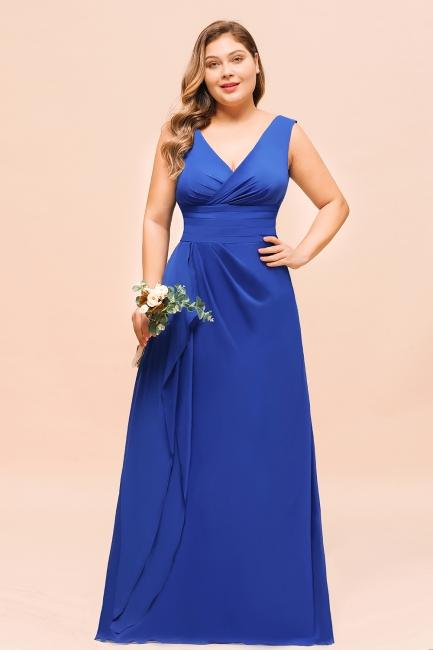 König Blaue Brautjungfernkleider Lang Günstig | Kleider Für Brautjungfern