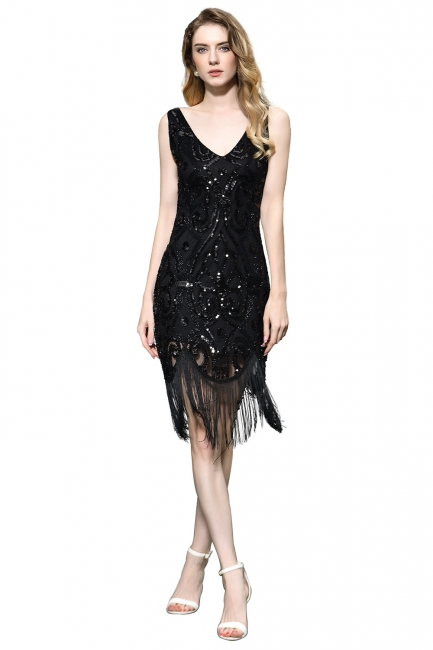 Elegant Cocktail Dresses Short Black | Prom dresses with glitter