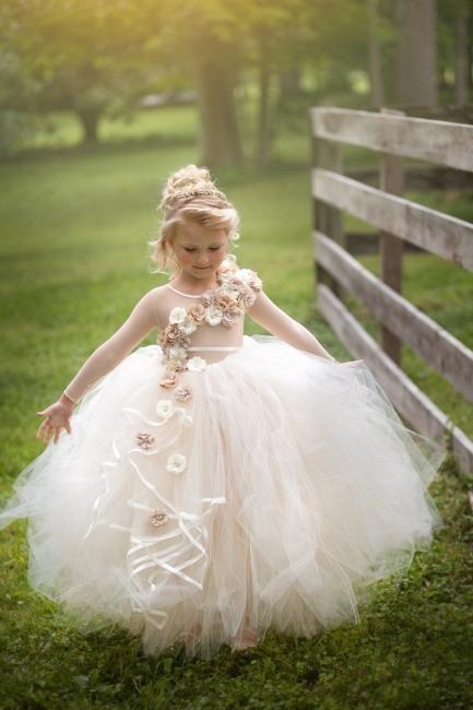 Blumenmädchenkleider Weiß | Blumenmädchen Kleider Kinder
