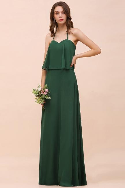 Long bridesmaid dresses dark blue | Chiffon dresses for wedding guests