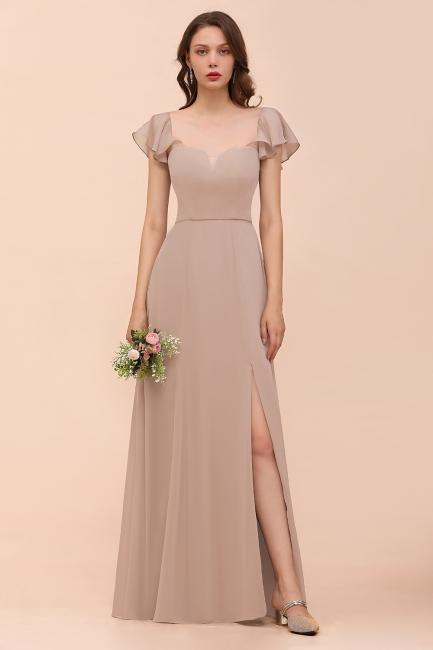 Champagne Brautjungfernkleider Lang | Günstiges Kleid Für Brautjungfern