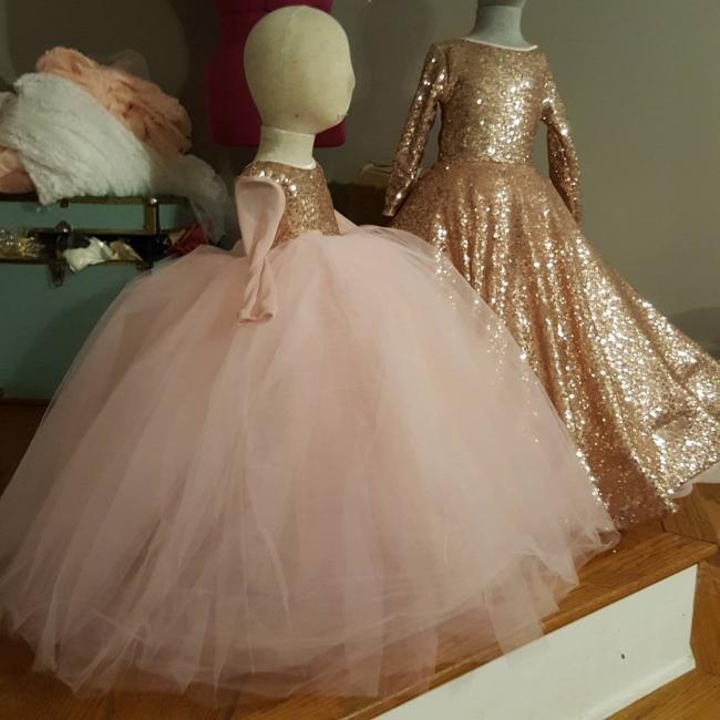 Blumenmädchenkleider Rosa | Blumenmädchen Kleider für Kinder