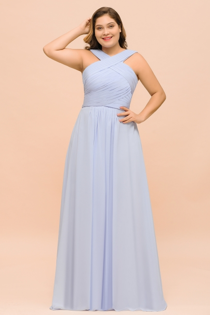 Lavender Brautjungfernkleider Große Größe | Chiffon Kleider Lang Günstig