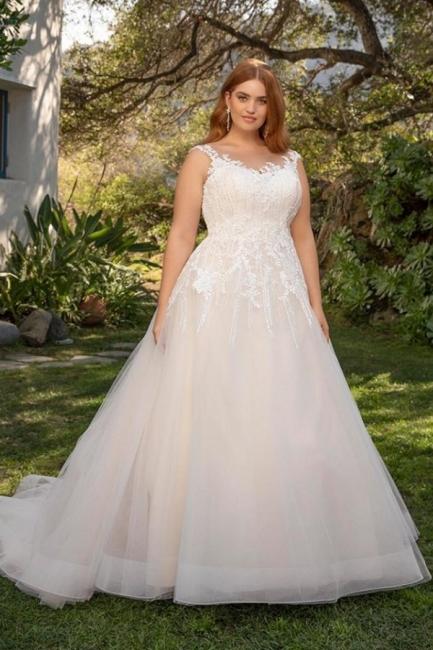 Elegante Hochzeitskleider Große Größe | Brautkleider Übergroße Online