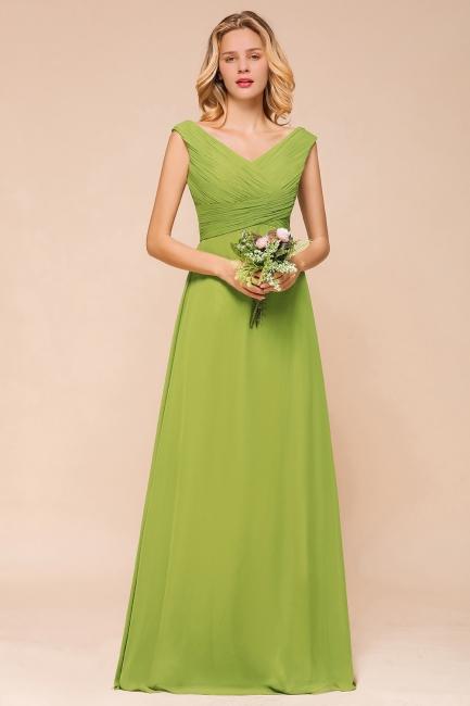 Günstig Brautjungfernkleider Lang Grün   Schlichtes Abendkleid