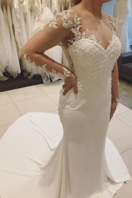 Designer Wedding Dresses With Lace | Mermaid wedding dresses online