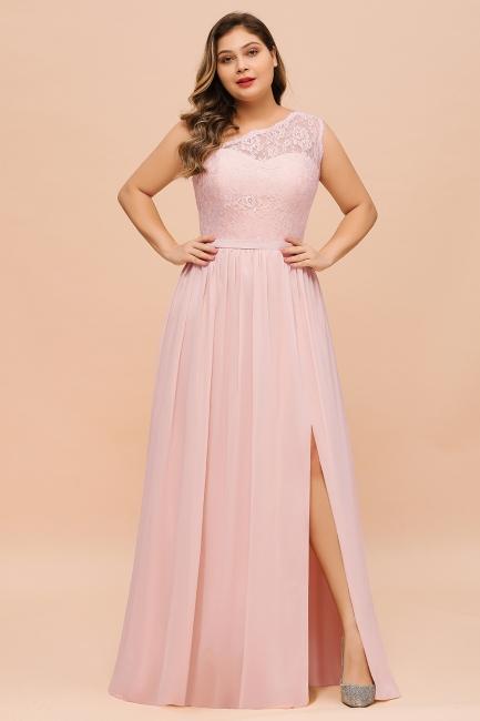 Elegante Brautjungfernkleider Lang Rosa | Brautjungfernkleid mit Spitze