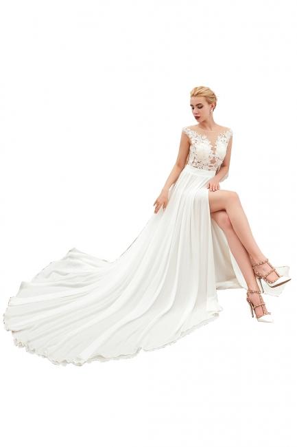 Simple wedding dress chiffon | Gorgeous Wedding Dresses Online