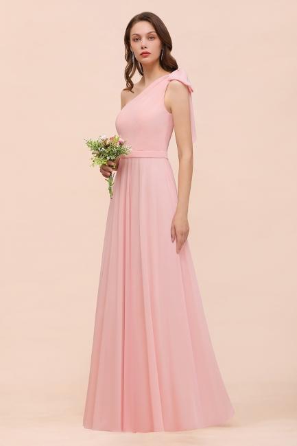 Brautjungfernkleider Lang Rosa   Chiffon Kleider Brautjungfern Günstig