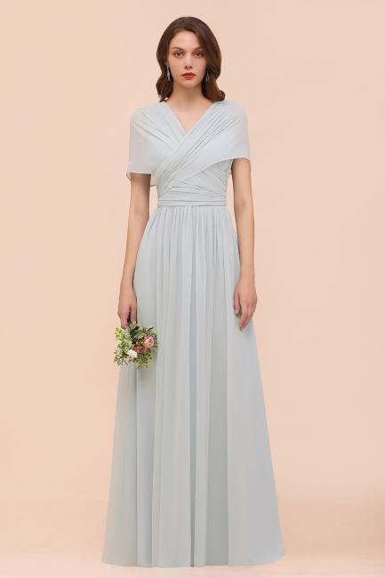 Silber Brautjungfernkleider Lang Günstig   Kleider Für Brautjungfern