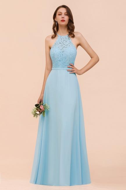 Himmel Blau Brautjungfernkleider Lang Günstig   Kleider Für Brautjungfern